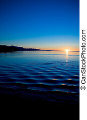Pacific Northwest Sunset - Sunset at Cline Spit in Sequim...