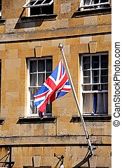 Union Jack, Chipping Campden - Union Jack flag on a flagpole...