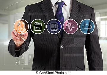 Composite image of businessman in s - Businessman in suit...
