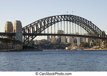 Sydney Harbor Bridge - View with Sydney Harbor Bridge