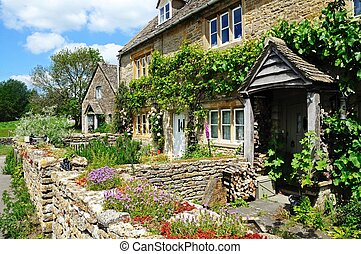 Stone cottages, Lower Slaughter.