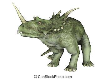 Dinosaur Styracosaurus - 3D digital render of a dinosaur...