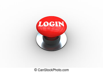 Login on digitally generated red push button