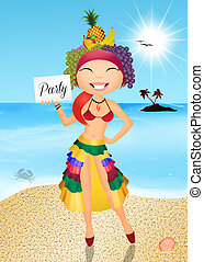 Brazilian girl - illustration of Brazilian girl