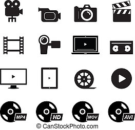 Video Icon set for your design