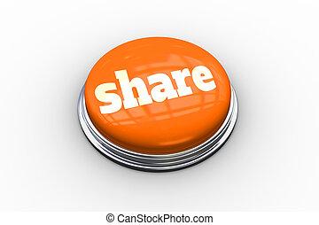 Share on shiny orange push button