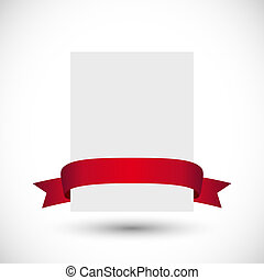 Card with red ribbon
