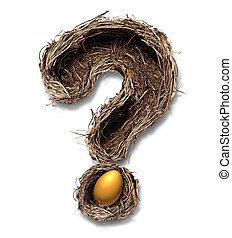 Pensionierung, nest, ei, Fragen
