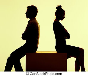 Picture of the couple having break in the argument - Picture...