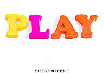 Play with plastic letter