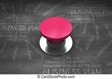 Composite image of pink push button - Pink push button...