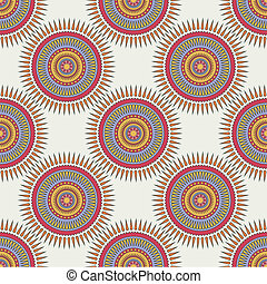 Seamless background with tribal style circles.