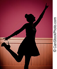 Glad young dancer on the dance floor - Happy young dancer on...