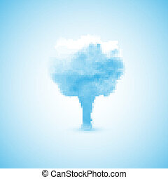 Cloud in the form of a tree