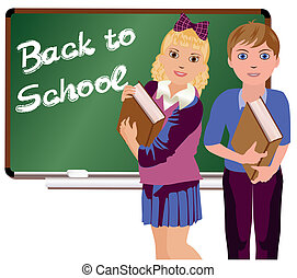 Back to School boy and girl - Back to School Little cute...