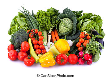 Fresh vegetables - Collection of fresh vegetables isolated...