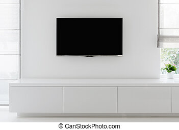 living room detail tv on wall - white living room detail tv...