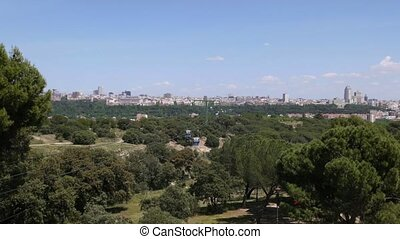 Madrid, Spain, teleferico, city - Europe, capital cities,...