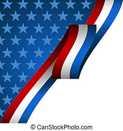 Patriotic Background - An image of a patriotic background.