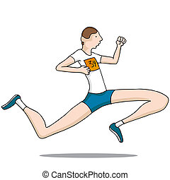Long Legged Runner - An image of a long legged runner.