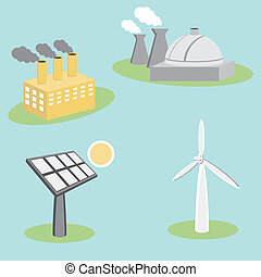 Utility Energy Company Icons - An image of utility energy...