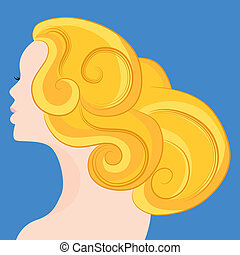 Woman With Blonde Hair - An image of a woman with blonde...