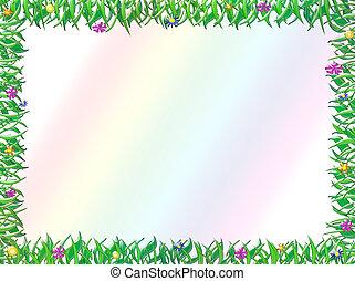 Grass floral frame