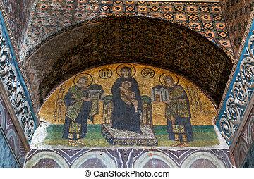 Hagia Sophia Interior in Istanbul, Turkey - Interior Hagia...