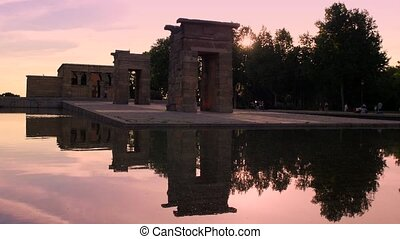 Madrid, Spain-Temple of Debod - Europe, capital cities,...