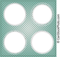 Vintage lace circle frame layout for photos, text, or...