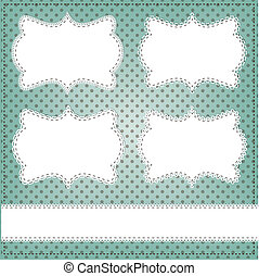Vintage lace frame layout for photos