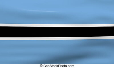 Waving Botswana Flag, ready for seamless loop.