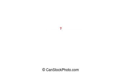 Red Question Mark - Zoom In - Computer generated image. HD...