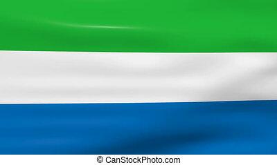 Waving Sierra Leone Flag, ready for seamless loop