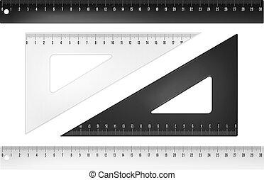 Plastic rulers
