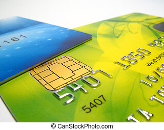 Credit cards - Detail of colored credit cards