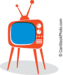 Retro TV set - Retro TV set vector icon