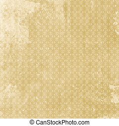 Old shabby vintage patterned aged paper