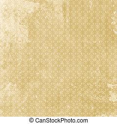 Old shabby vintage patterned aged paper - Old grunge vintage...