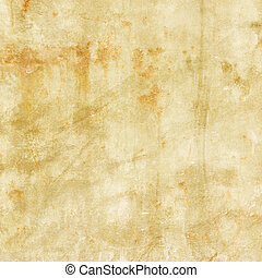 Old grunge distressed paper background with rust spots - Old...