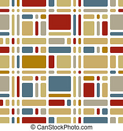 Colorful mosaic tiles seamless pattern.