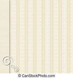 Tan and cream patterned paper background with border - Tan...