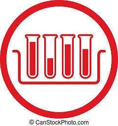 Test tubes vector icon.