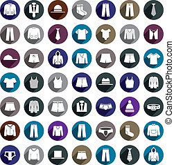 Man clothes vector icon set
