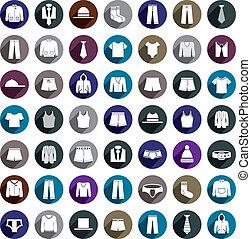 Man clothes vector icon set.