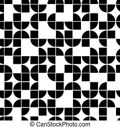 Black and white geometric seamless pattern, contrast squared...