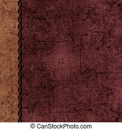 Layered brown and maroon background with braid edge - Maroon...