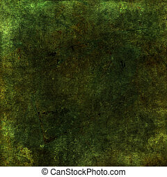 Green earthy grunge scrapbook background with texture -...
