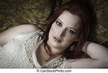 Red Head Model - Mature red head mother and wife model