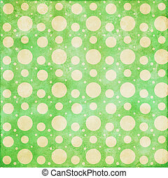 Retro dot lime green with cream background - Retro grunge...